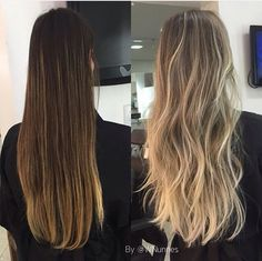 Hair goals quotes hairstyles 53 super ideas - All About Hairstyles Ombre Hair Color, Hair Color Balayage, Blonde Balayage, Hair Highlights, Balayage On Long Hair, Dark Blonde Highlights, Blonde Hair Looks, Honey Blonde Hair, Platinum Blonde Hair