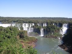 Iguazu Falls, Venezuela - One of the most famous and exotic waterfalls in the world.