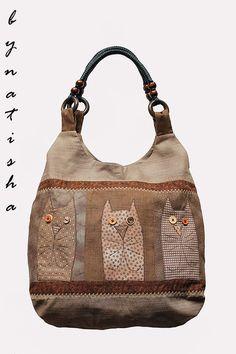 Goofy cat bag, lol!