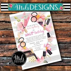 MAKEUP SPA Party GiRLS BIRTHDAY Lipstick Pamper Watercolor