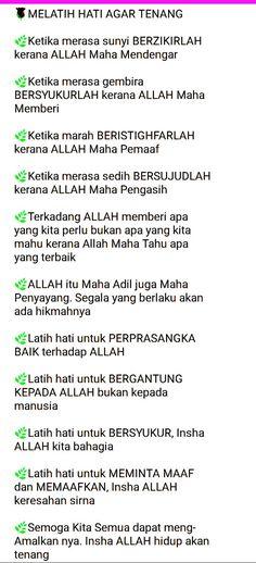 Melatih Hati agar Tenang :) People Quotes, True Quotes, Words Quotes, Wise Words, Motivational Quotes, Doa Islam, Islam Quran, Islamic Inspirational Quotes, Islamic Quotes