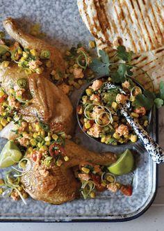 Corn Salsa with Chilli with Beachworth Honey Chèvre Corn Salsa, No Dairy Recipes, Tacos, Honey, Ethnic Recipes, Food, Corn Relish, Meal, Eten