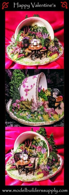 A rose is just a rose, until you put it in a miniature English garden inside a teacup, then its something very special. This teacup is appropriately named Bridal Rose - Gardening DIY Fairy Crafts, Garden Crafts, Garden Ideas, Mini Jardin Zen, Floating Tea Cup, Teacup Crafts, Teacup Decor, Fairy Garden Houses, Miniature Fairy Gardens