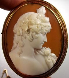 Museum Quality Cameo of Antinous Vertumnus