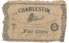 City of Charleston, 5 cents, Confederate currency from 1862