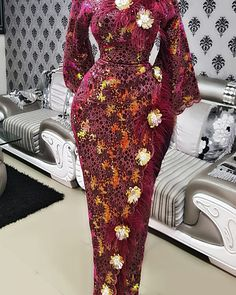 Looking for inspiration of beautiful African fashion dress styles to rock to your event. African Prom Dresses, African Dresses For Women, African Attire, African Clothes, African Fashion Ankara, Latest African Fashion Dresses, African Print Fashion, African Lace Styles, Lace Dress Styles