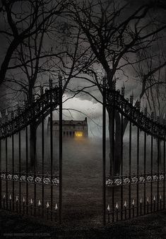 This would be my house! Dark and creepy!