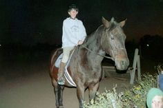 Me with Patrick, he was my show horse, he was a good puppy