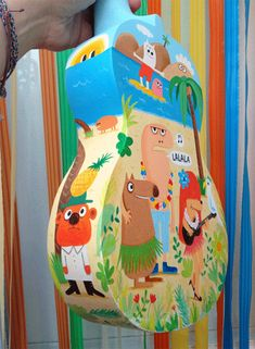 Ukulélé peint © Delphine Durand http://delphinedurand.blogspot.fr/2013/05/expo-ukuleles-peints.html