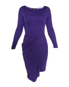Fashion Deals, Dresses For Work, Formal Dresses, Draped Dress, Ladies Dress Design, Designer Dresses, Purple, How To Wear, Stuff To Buy