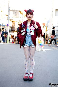 Elleanor, 18 years old, works at resale shop Kinji Harajuku & at Scramble…