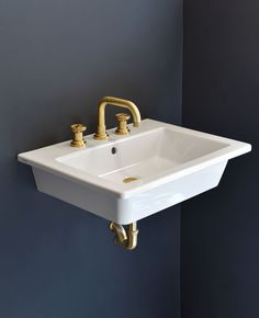 The Kiruna deep, chunky bathroom basin is reminiscent of industrial trough style sinks. The basin measures 600mm wide and features a hygienic stain and scratch resistant glaze