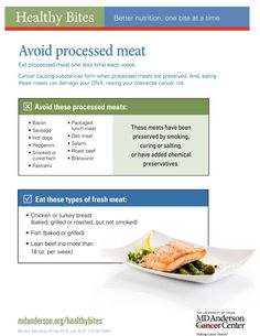 Cancer-causing substances form when processed meats are preserved. And, eating these meats can damage your DNA, raising your colon cancer risks. Use this guide to determine how much processed meat you're eating. #health #food #diet #meat
