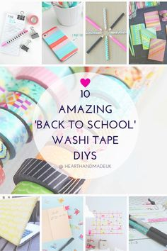 10 Amazing 'Back To School' Washi Tape DIY Ideas