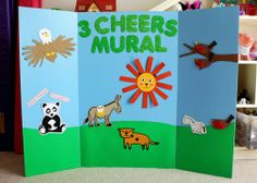 Girl Scout Daisies - ...3 Cheers for Animals! Journey - Portable mural.