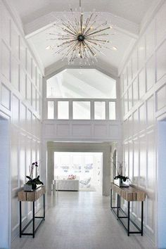 Nice Modern Entry Chandelier Foyer Lighting Ideas Entry Contemporary With Armchair Chandelier Chandelier Design, Entry Chandelier, Hallway Lighting, Gold Chandelier, Hallway Ceiling, Chandelier Ideas, Entry Way Lights, Hallways, Foyer Mirror