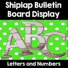 Shiplap Letters for Bulletin Boards