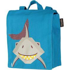 kids backpack for kindergarten - shark - made of organic cotton. Bleu Turquoise, Coton Biologique, Kids Backpacks, Shark, Organic Cotton, Bags, Plein Air, Respect, France