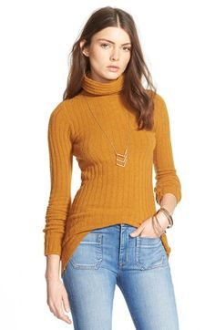 Free People Ribbed Turtleneck Sweater available at #Nordstrom