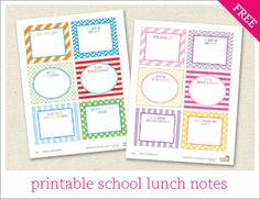 lots of cute printable notes, tags, letters, games