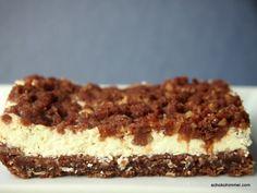 Orangen-Kakao-Cheesecake mit Streuseln