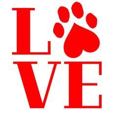 Free Pawprint Love SVG Cut File
