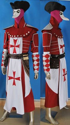 Assassin s Creed  Brotherhood costume Assassin s Creed Doctor costume red  edition 47be93c46fc2b