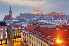 Bratislava Panorama - Slovakia - Eastern Europe City Stock Image - Image of christmas, landscape: 33472487 Best Places To Travel, Great Places, Places To See, Beautiful Places, The Final Destination, Bratislava Slovakia, Old World Christmas, Famous Places, City Break