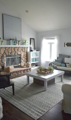 coastal living room ideas, summer home tour, sharing the coastal, rustic and bold ways to decorate a home for summer. Full of DIY projects, crafts and other lo cost ways to decorate a dream home. To see more click on the link or visit- http://ourhousenowahome.com/