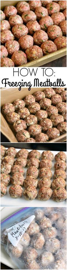How To: Freezing Meatballs. Meatballs are versatile with the kind of meat you can use and kinds of sauces you can use. Freezing meatballs can be a solution for week's worth of different dinners.