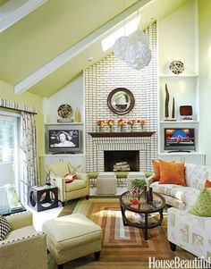 ideas how to decorate a room with a vaulted cathedral ceiling