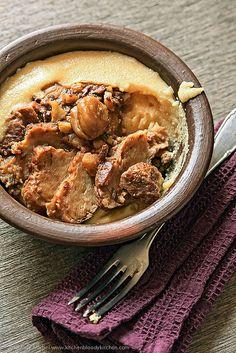 Seitan ai funghi porcini e  via #kitchenbloodykitchen.com