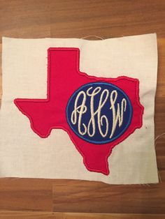 Texas Monogram Applique: Miss Mary's Embroidery