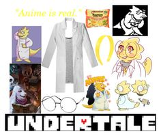 """""""UNDERTALE Alphys Inspired outfit"""" by shadowdragon21 ❤ liked on Polyvore featuring ZeroUV and Vince"""