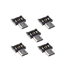LBSC 5pcs Ultra Mini DM Micro USB 5pin OTG Adapter Connector for Cell Phone Tablet & USB Cable & Flash Disk