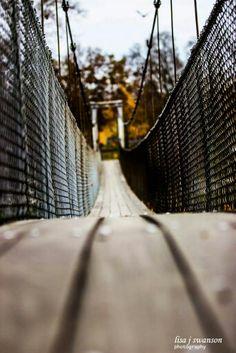 The Swinging Bridge Belvidere Park Belvidere IL. #Home