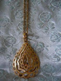 Vintage Large Goldtone Pendant