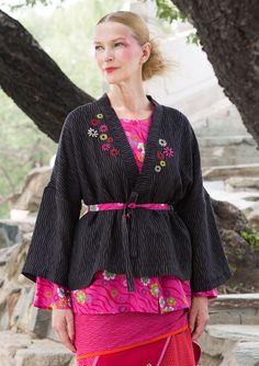 "Kimonojakke ""Kyoto"" i hør/viskose–Frakker & jakker–GUDRUN SJÖDÉN – Kläder Online & Postorder"