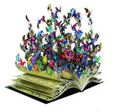 """Recikling art: """"A flock of metal butterflies"""" David Cracov"""