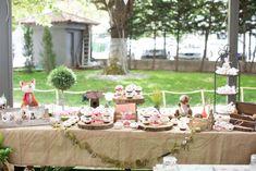 #candytable #baptism #forestfriends #zoakiadasous Market Umbrella, Candy Table, Forest Friends, Table Decorations, Birthday, Wedding, Cake, Home Decor, Ideas