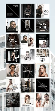$25 · Add swag to your brand's social media profile pages with the Men's Fashion Social Feed Template! This dapper set of 30 custom designs will help you strut your stuff on social with a masculine, stately aesthetic. WHAT'S INCLUDED:30 square (1080 x 1080px) Social Feed Canva Templates| Free stock Images already edited with Cultive Presets| Step by step installation instructions| Customer Support from our team Instagram Feed, Instagram Posts, Instagram Post Template, Branding Kit, Social Media Template, Installation Instructions, Templates Free, Customer Support, Social Platform