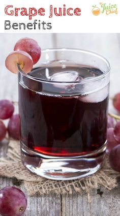 This homemade grape juice recipe uses sweet seedless black or red grapes, and all you need is a blender! Learn how to make grape juice using our simple recipe. Green Drink Recipes, Grape Recipes, Healthy Juice Recipes, Healthy Juices, Healthy Drinks, Smoothie Recipes, Healthy Eating, Cleanse Recipes, Yummy Smoothies