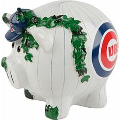 Keep tabs on your savings and stash your cash in this Chicago Cubs Thematic Piggy Bank! Piggy bank is x x and features unique elements that represents your team. Chicago Cubs, Piggy Bank, Baby Items, Baby Kids, Grandkids, Collection, Ideas, Money Box, Thoughts