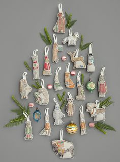 Trim your tree with Coral & Tusk festive ornaments. Create a memorable holiday display with our embroidered Christmas characters. Embroidered Christmas Ornaments, Unique Christmas Ornaments, Whimsical Christmas, Christmas Embroidery, Christmas Centerpieces, Christmas Tree Decorations, Primitive Christmas, Primitive Crafts, Rustic Christmas