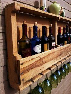 Rustic Wine Rack  Reclaimed Wood Handmade. $109.00, via Etsy.