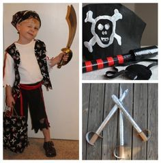Homemade no sew pirate costume for kids pretend play homemade it be international talk like a pirate day so if it be helpin to ye i rounded up some o the best pirate ideas sure to bring ye a solutioingenieria Gallery