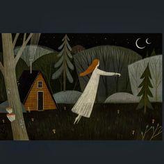 illustration by Alexandra Dvornikova Illustration Art Drawing, Forest Illustration, Art Drawings, Naive, Klimt, Whimsical Art, All You Need Is, Art Inspo, Folk Art