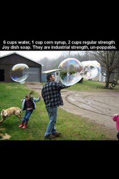 Homemade bubble mix #bubbles #unpoppable #recipe