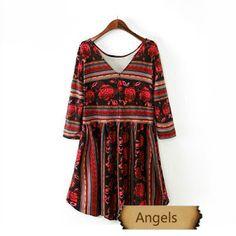 女裝民族束腰連身裙18 | Angels