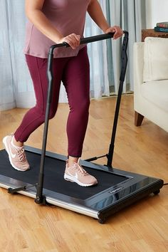 This compact treadmill squeezes workouts into just about any space. Learn how this lightweight treadmill works without you needing to push any buttons. Abdominal Exercises, Abdominal Muscles, Compact Treadmill, Foldable Treadmill, One Pound Of Fat, Strong Legs, Running Belt, Walk This Way, Stay In Shape